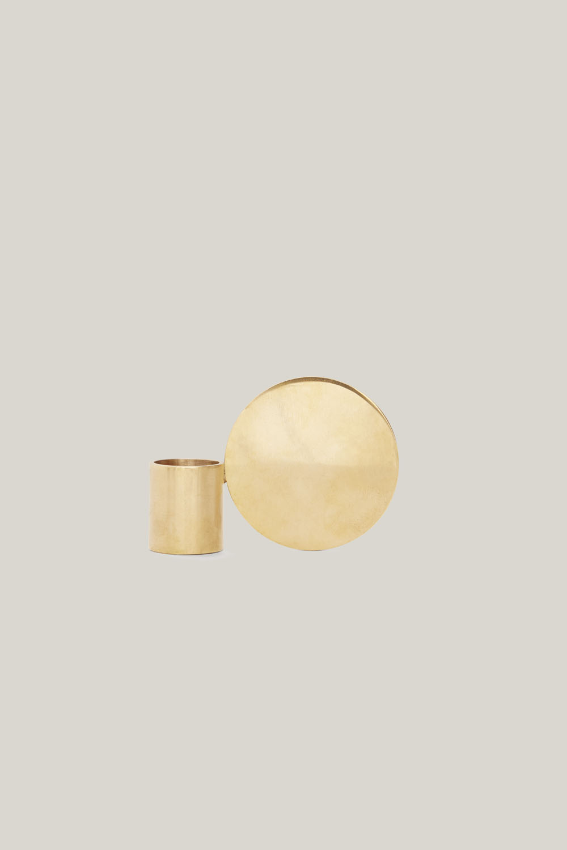 Fundament Candle Holder Brass No.1