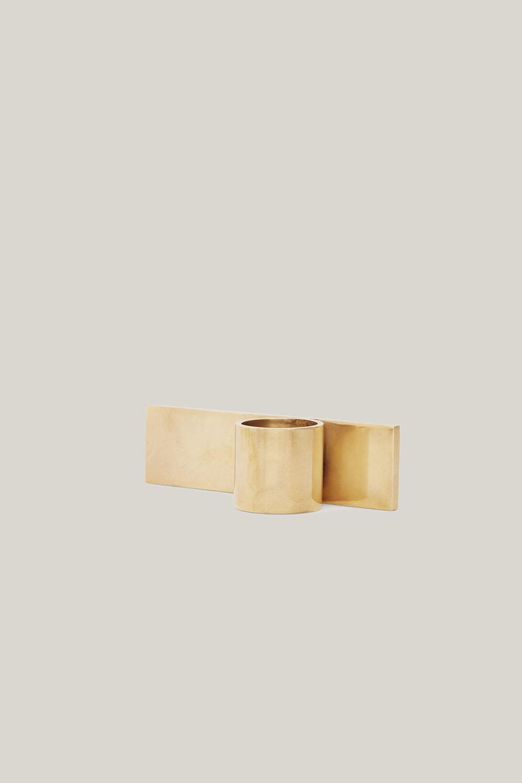 Fundament Candle Holder Brass No.3