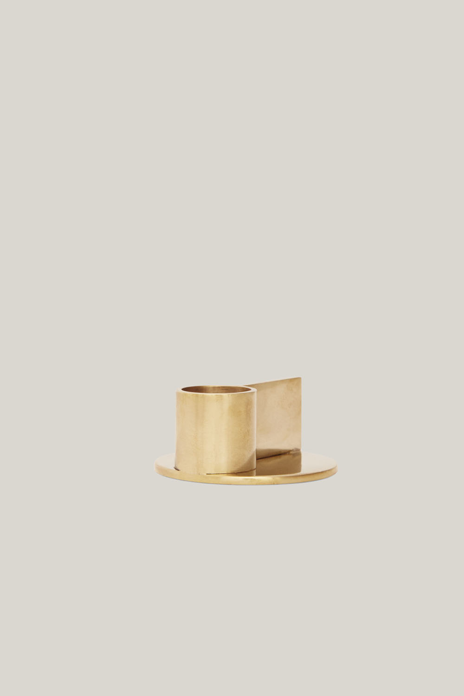 Fundament Candle Holder Brass No.2