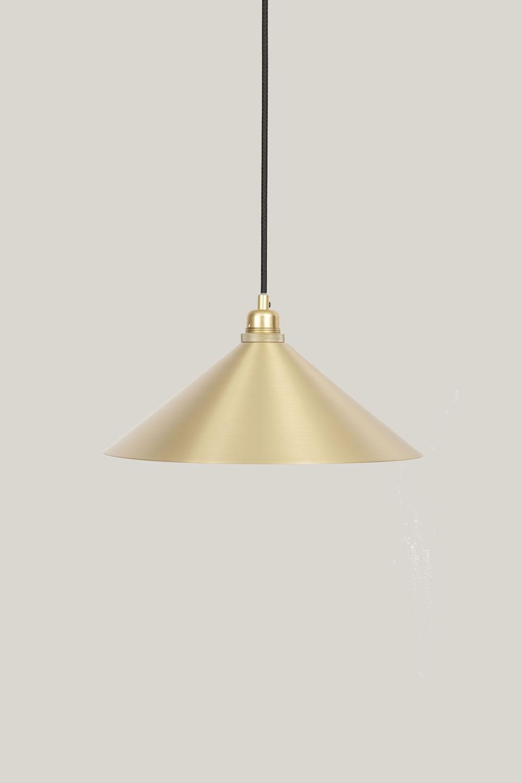 Cone Shade Brass Medium