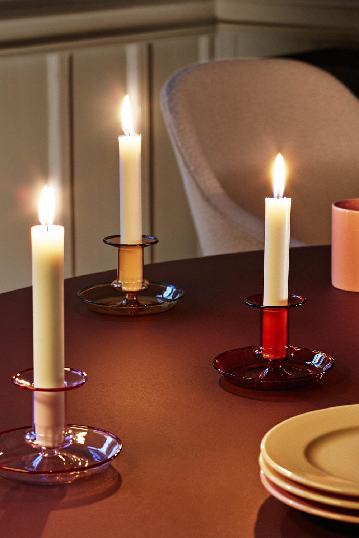 Flare Candleholder Amber
