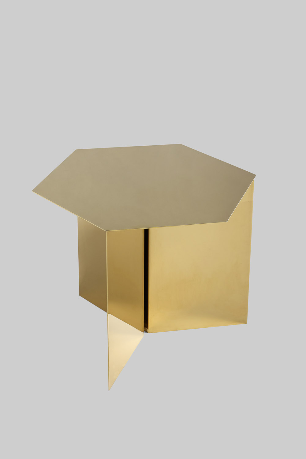Slit Table Hexagon Brass