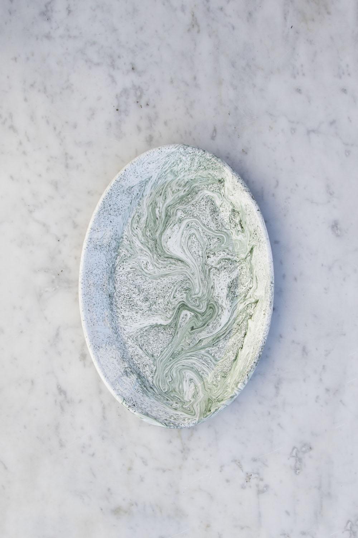 Soft Ice Oval Dish Green