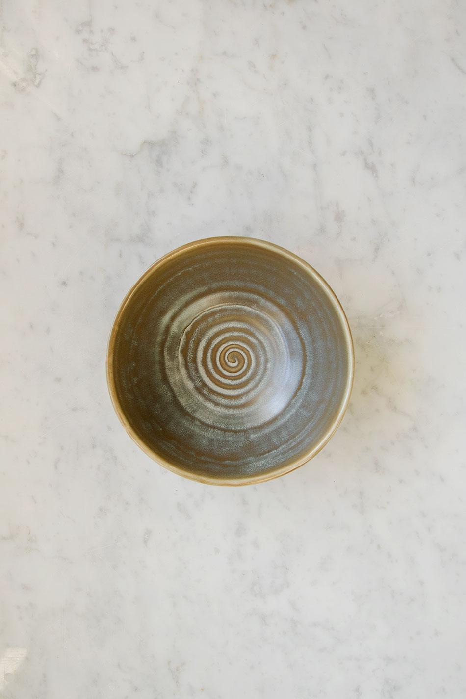 Rustic Salad Bowl Green/Grey