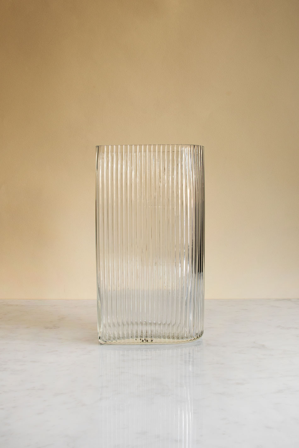Ribbed Glas Vase L