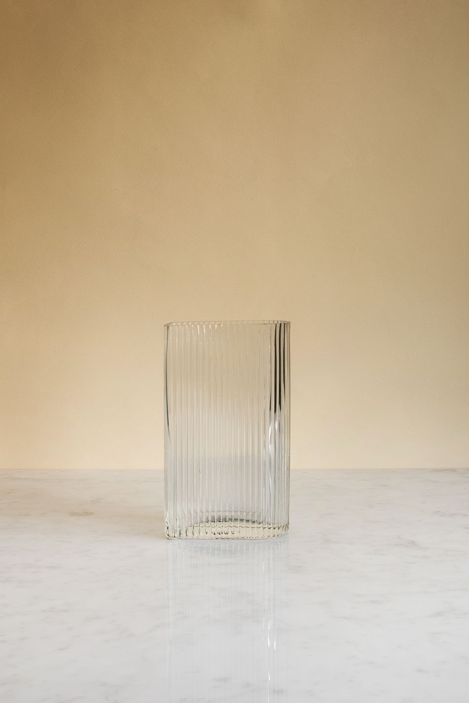 Ribbed Glas Vase S
