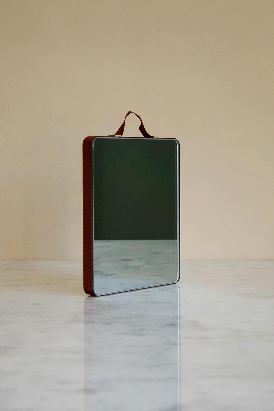 Ruban Mirror Rectangular Rust