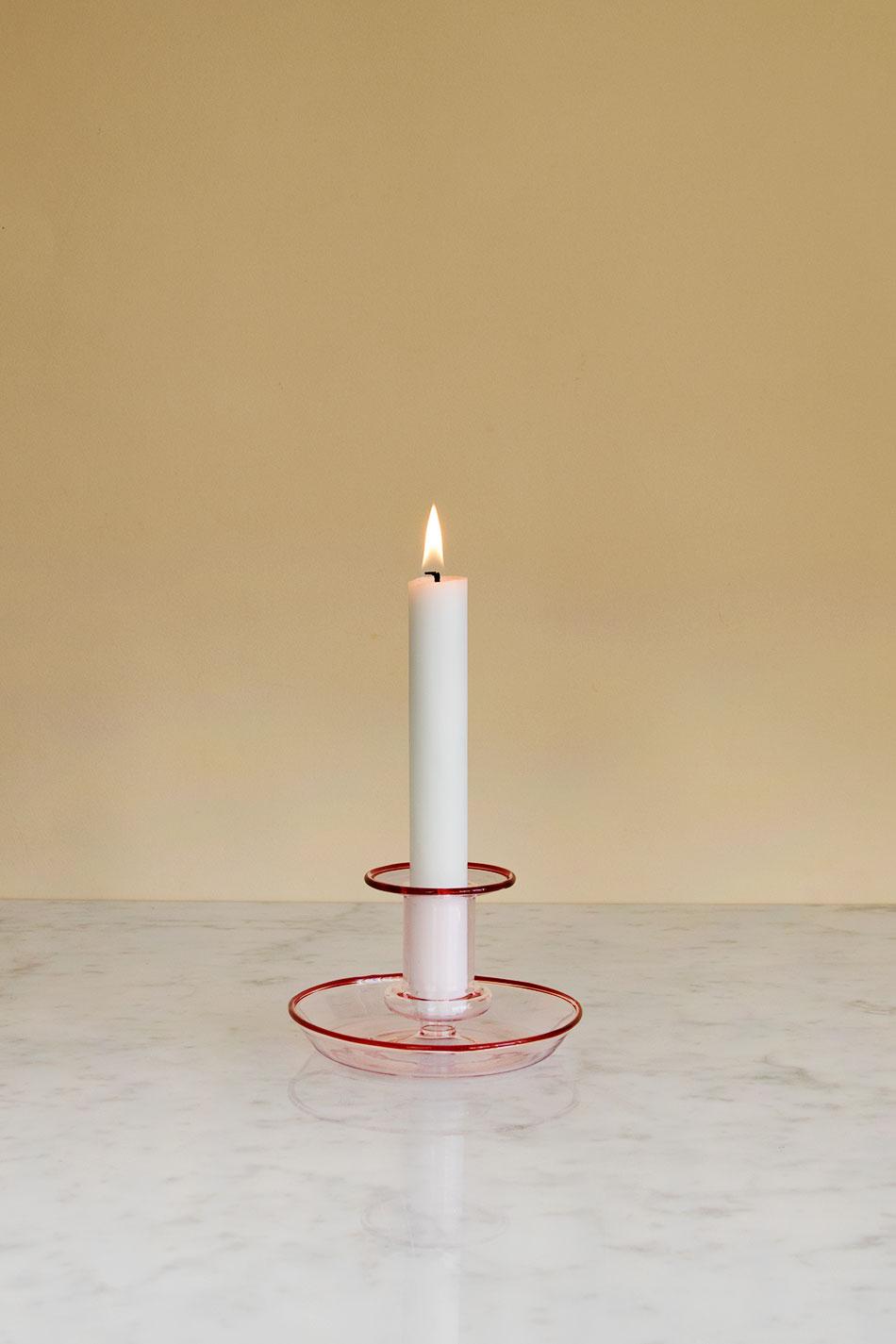 Flare Candleholder Pink