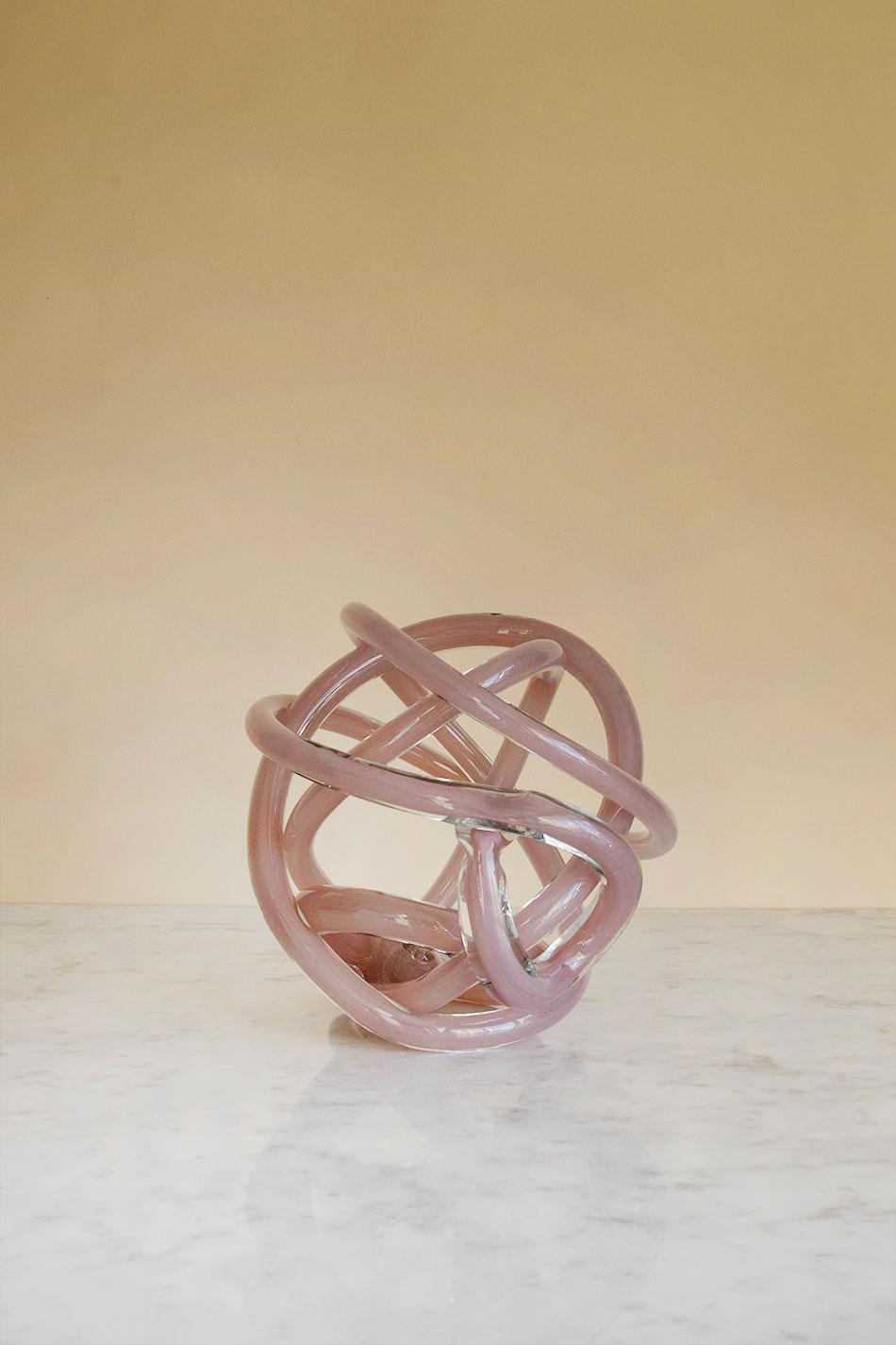 Knot L Nude transparent