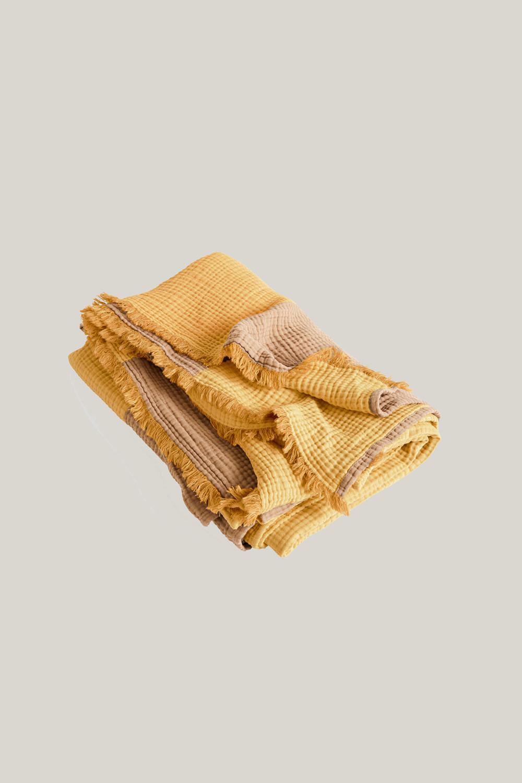 Crinkle Stripe Plaid Yellow