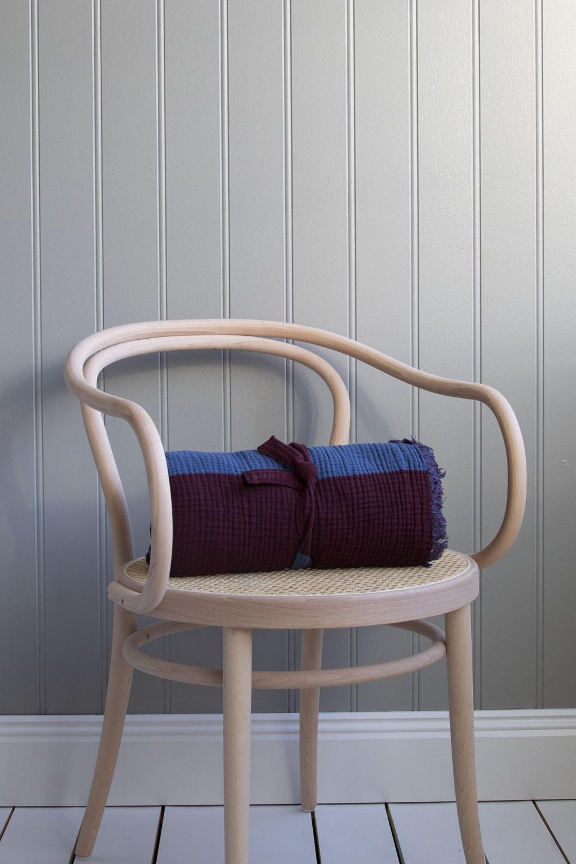 Crinkle Stripe Plaid Burgundy