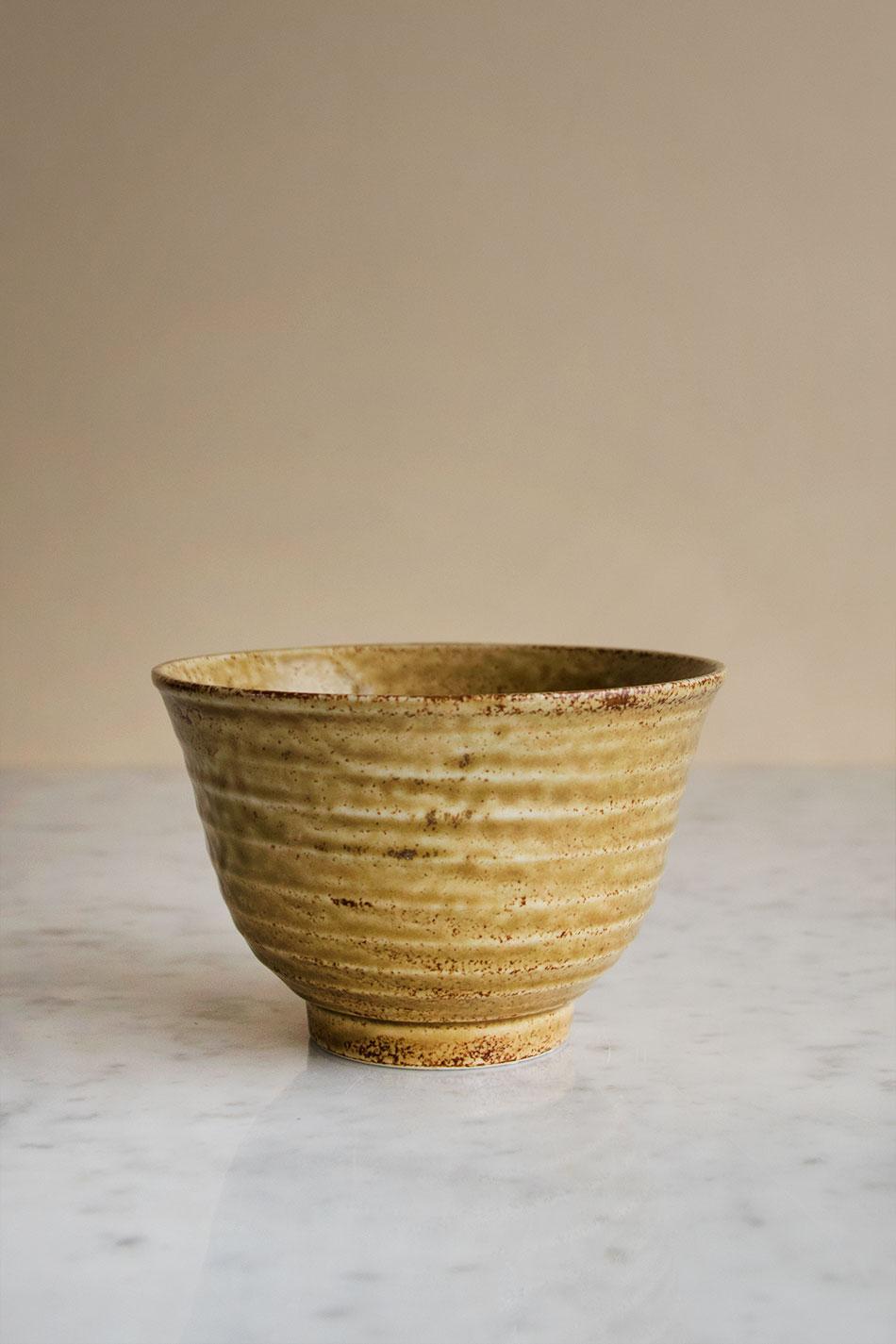 Japanese Matcha Bowl Mustard