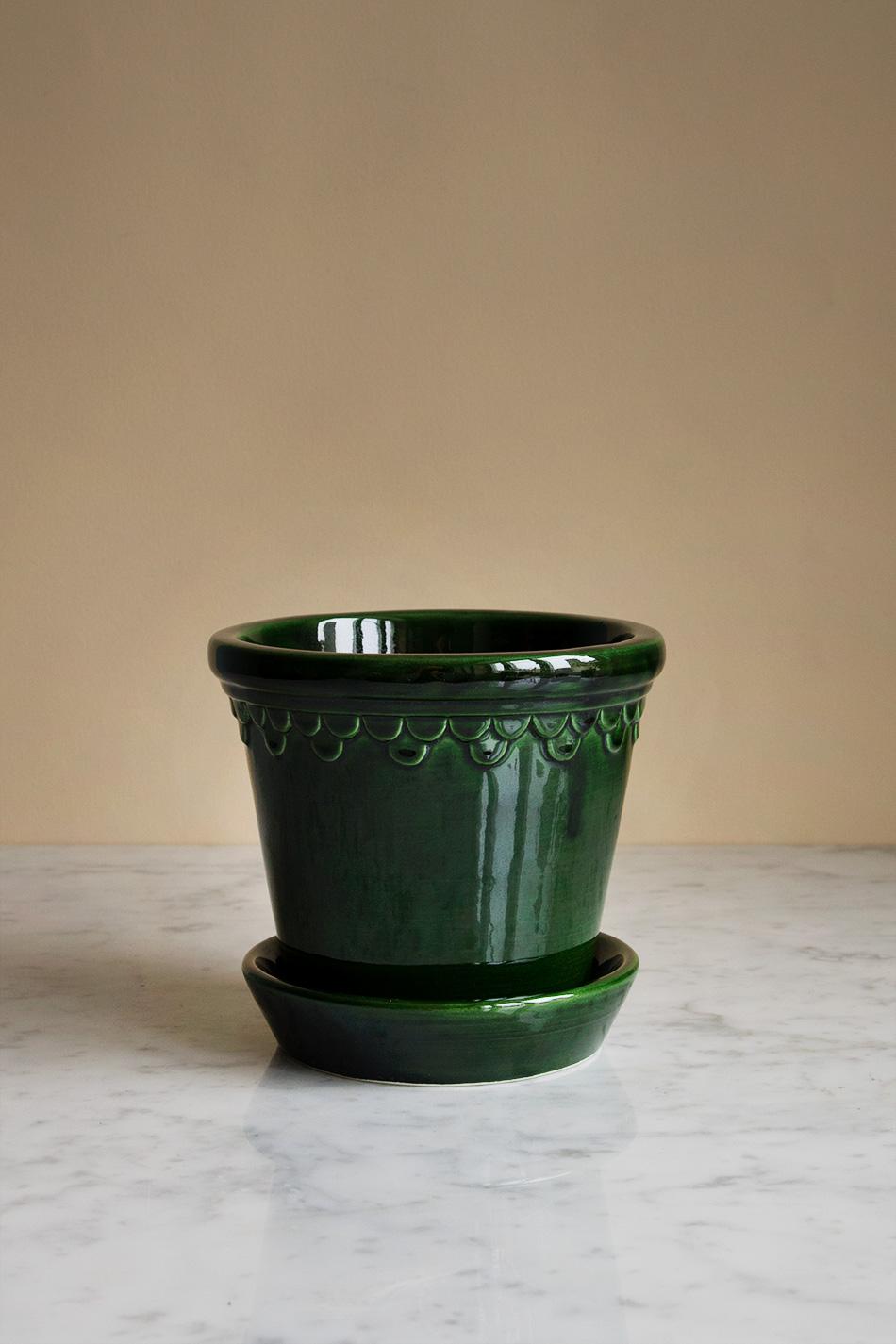 Kruka Köpenhamn Grön 14 cm