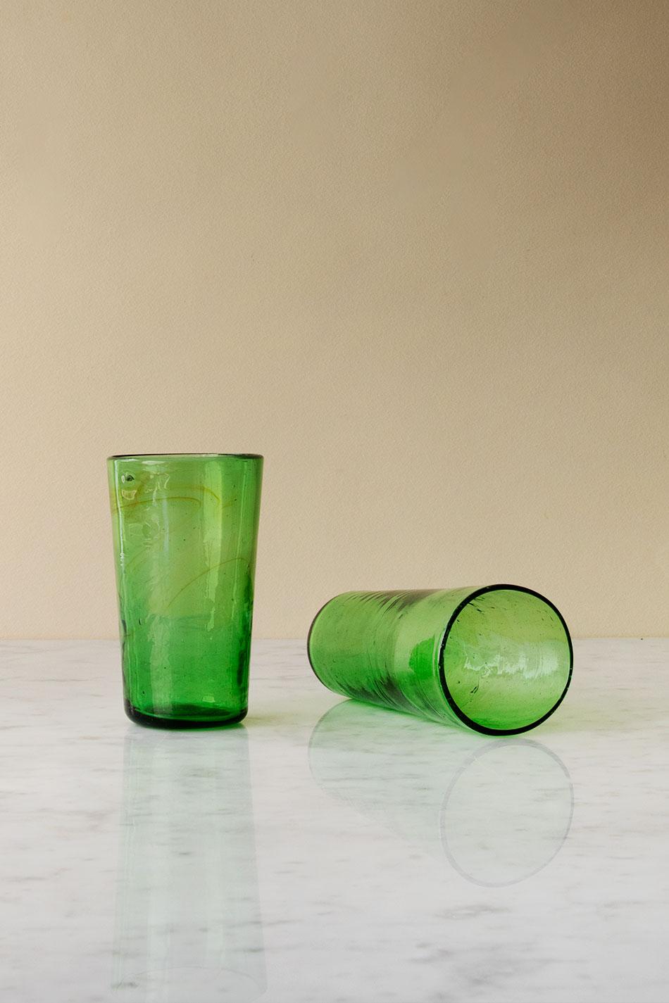 Dricksglas La Maison Dar dar Koniskt Green
