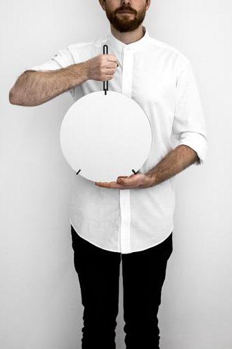 Spegel Ø30cm Svart