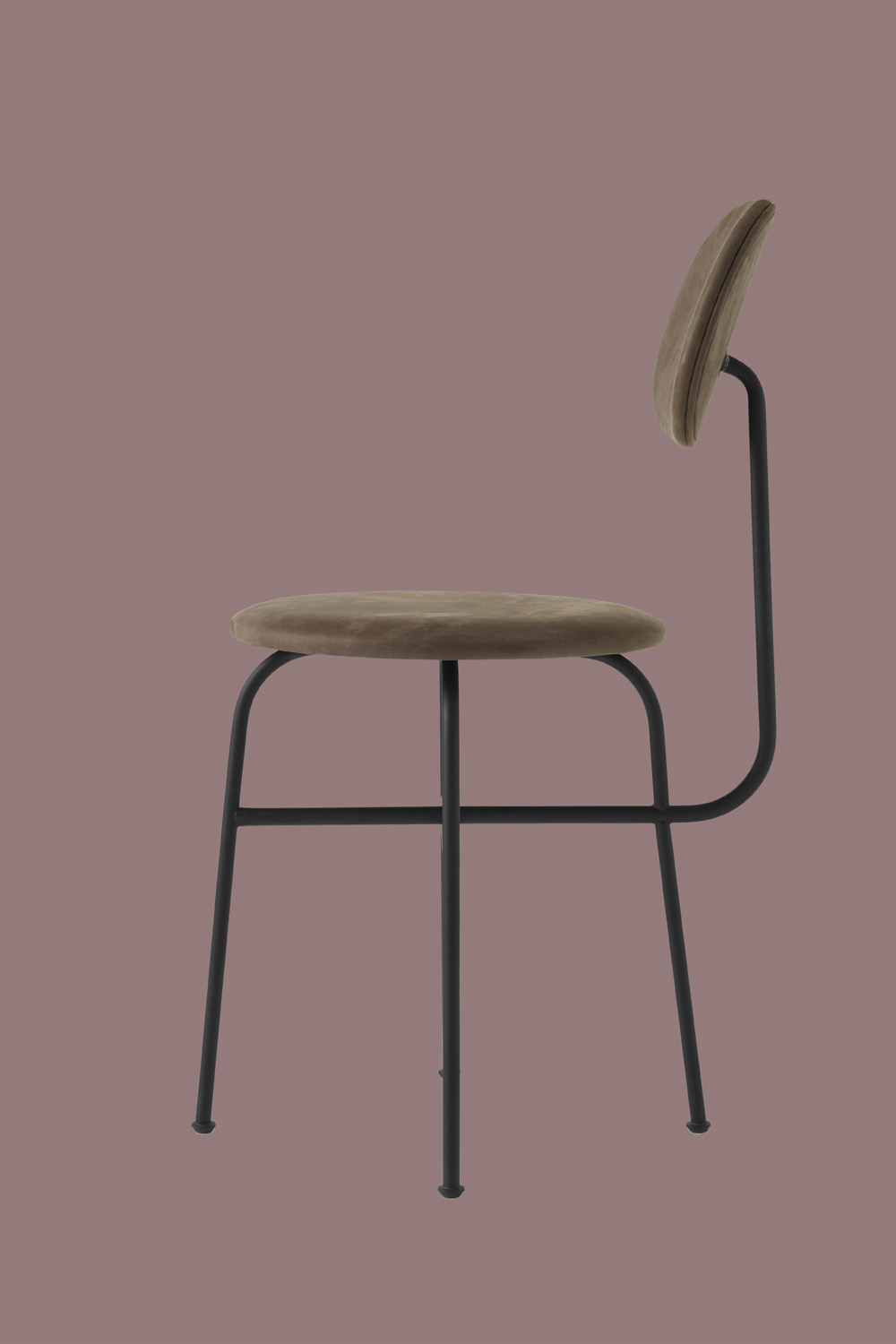 Afteroom Dining Chair Pus Brown Velvet