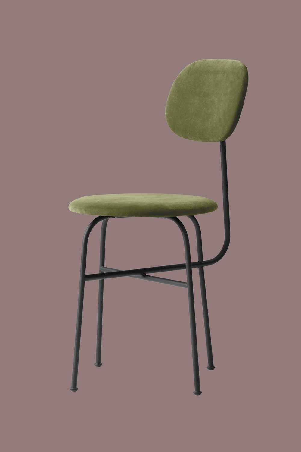 Afteroom Dining Chair Pus Green Velvet