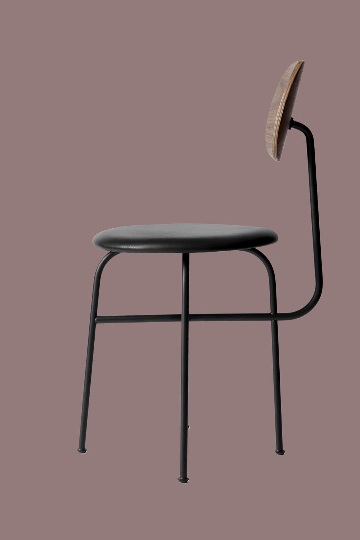 Afteroom Dining Chair Pus Läder/valnöt