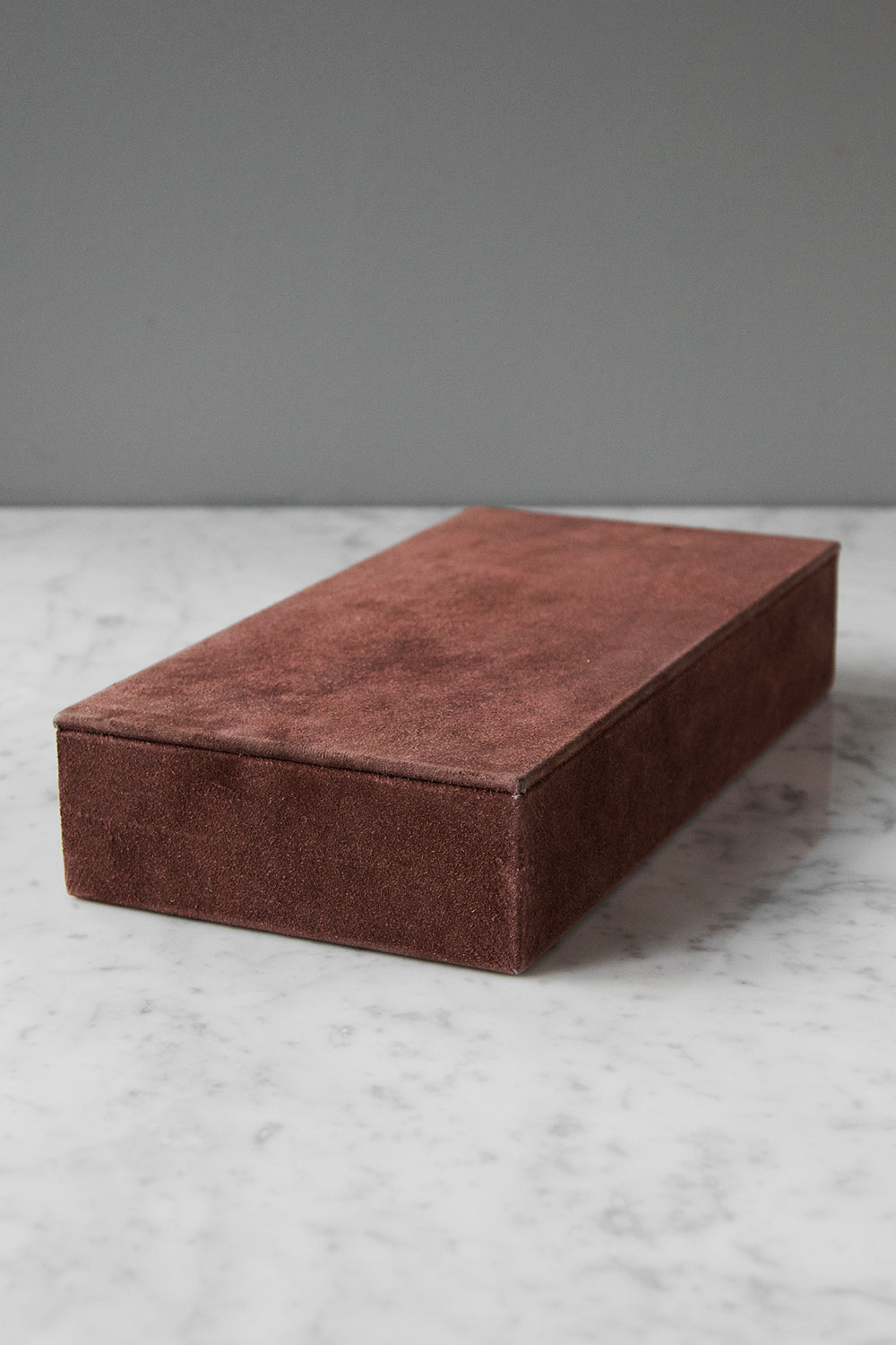 Suede Box Rectangular Pale Rose