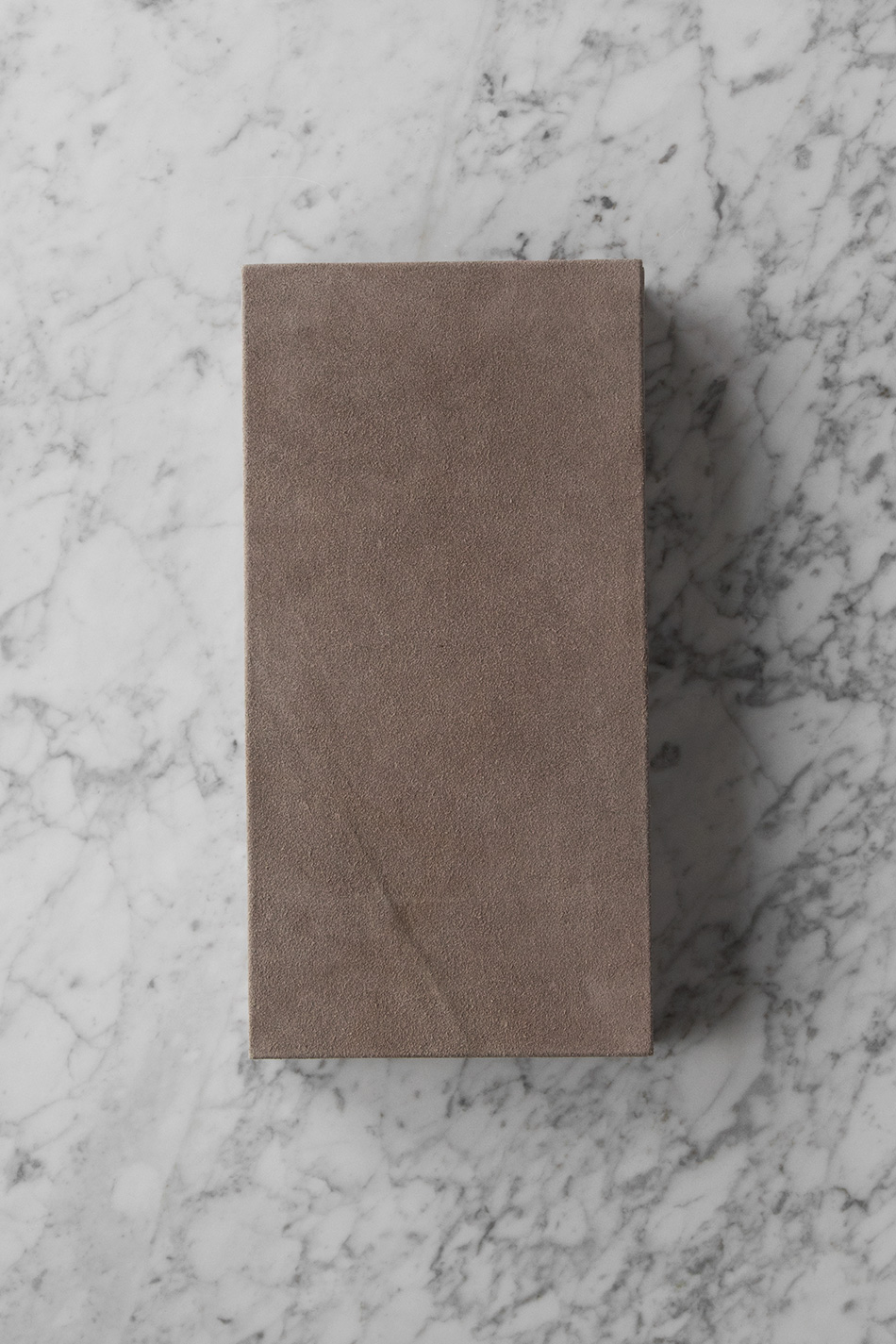 Suede Box Rectangular Nude