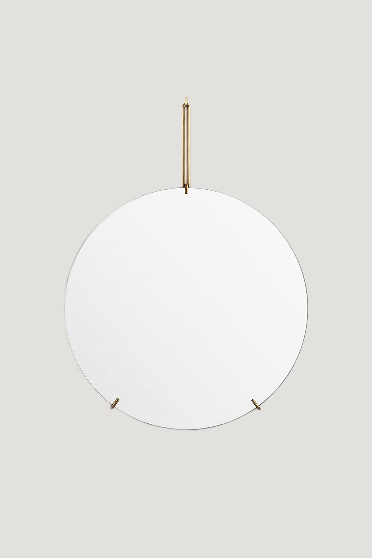 Spegel Ø70cm Mässing
