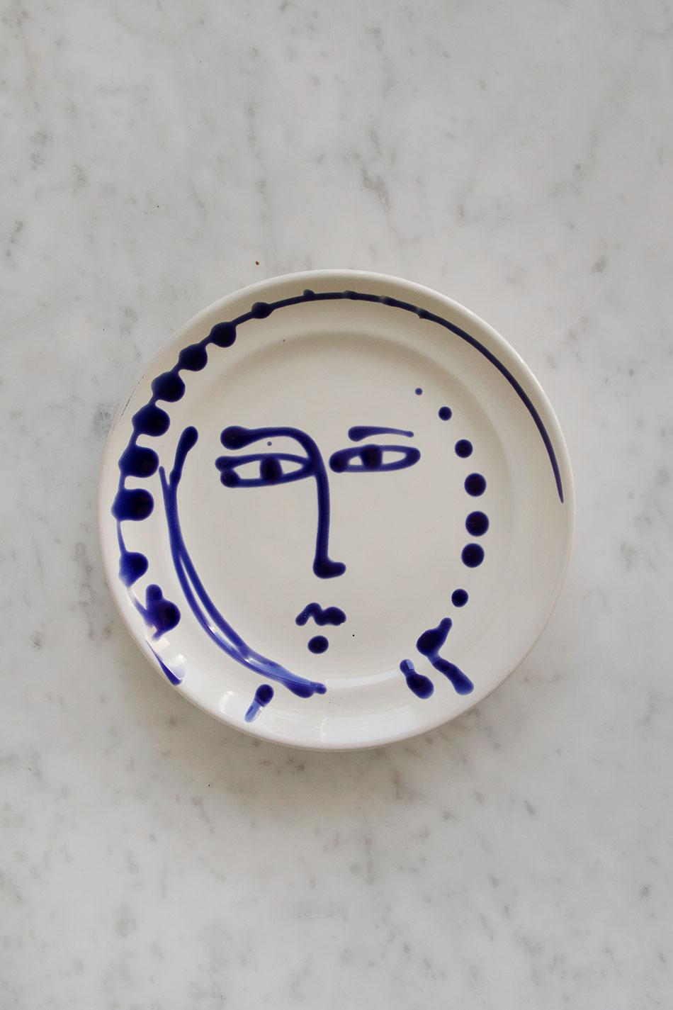 Assiett Face Blue