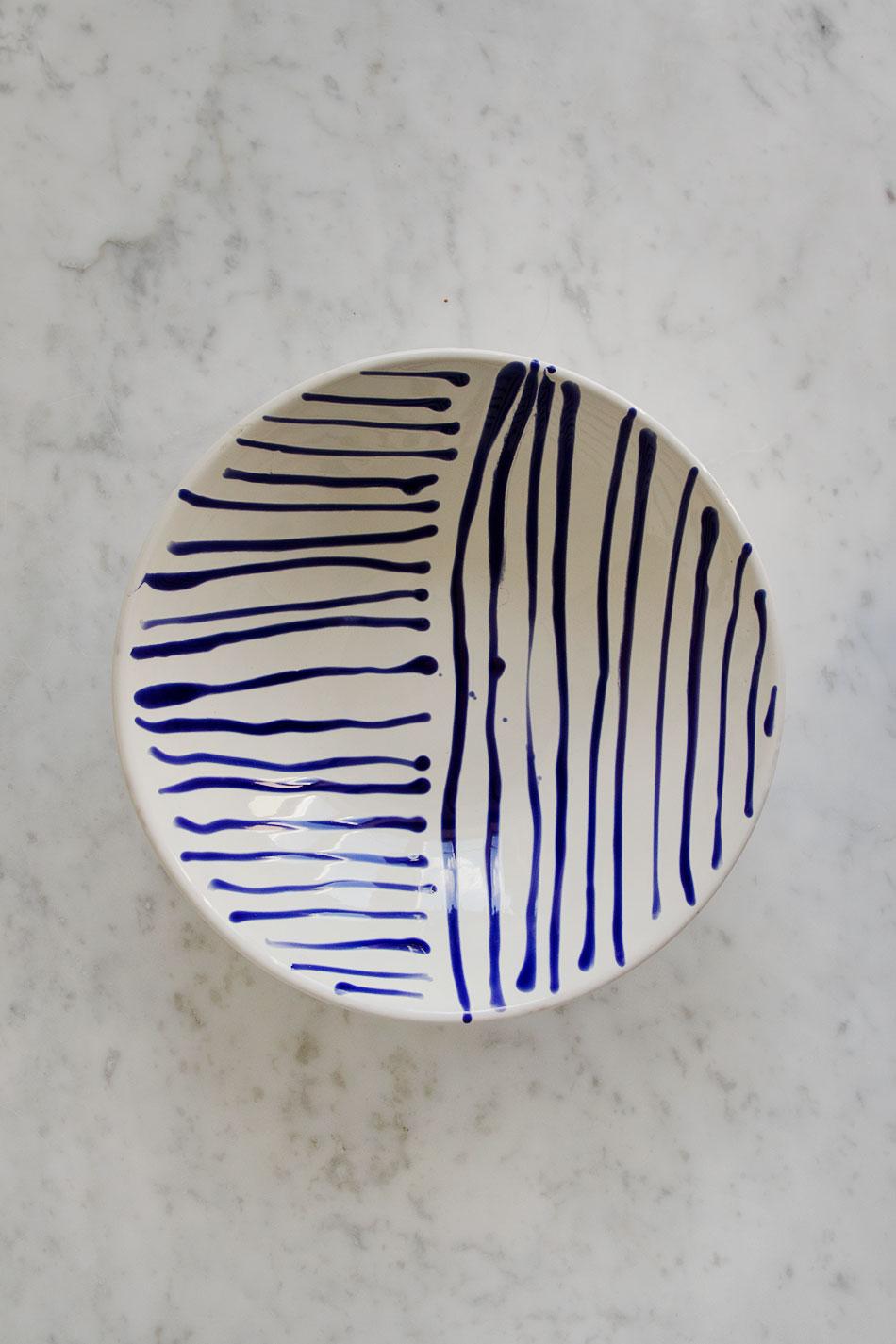 Salladsskål Abstract Blue