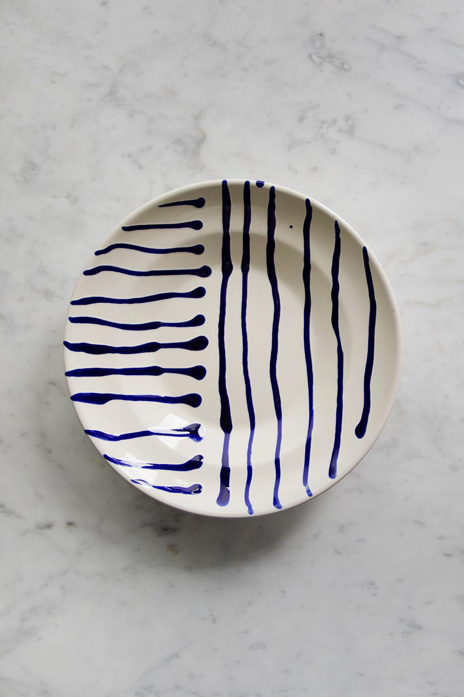 Djup Tallrik Abstract Blue