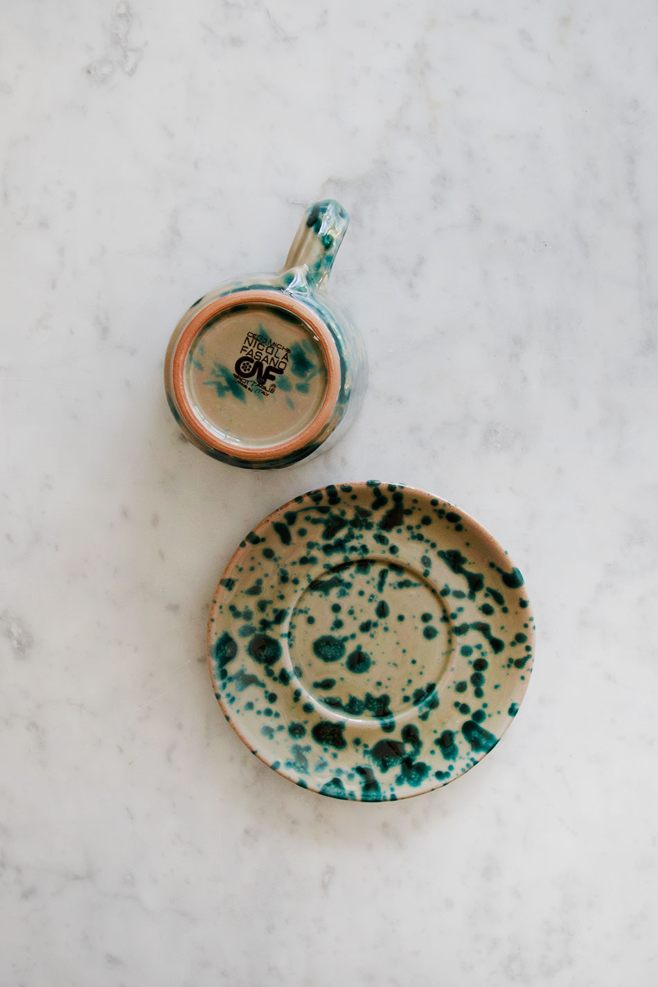 Kaffekopp Spruzzi Turchese