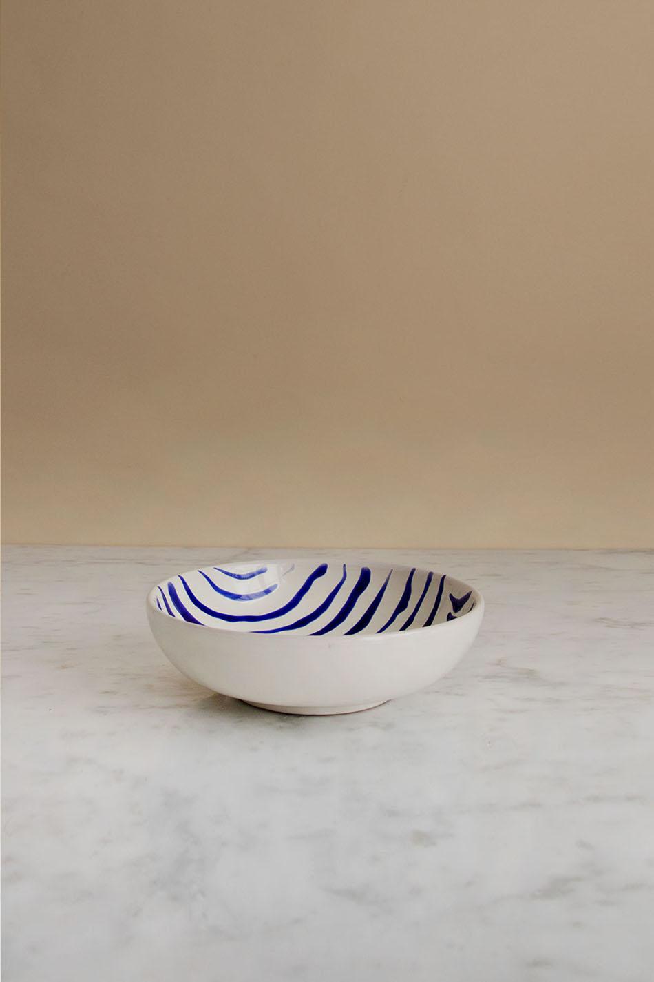 Frukostskål Abstract Blue