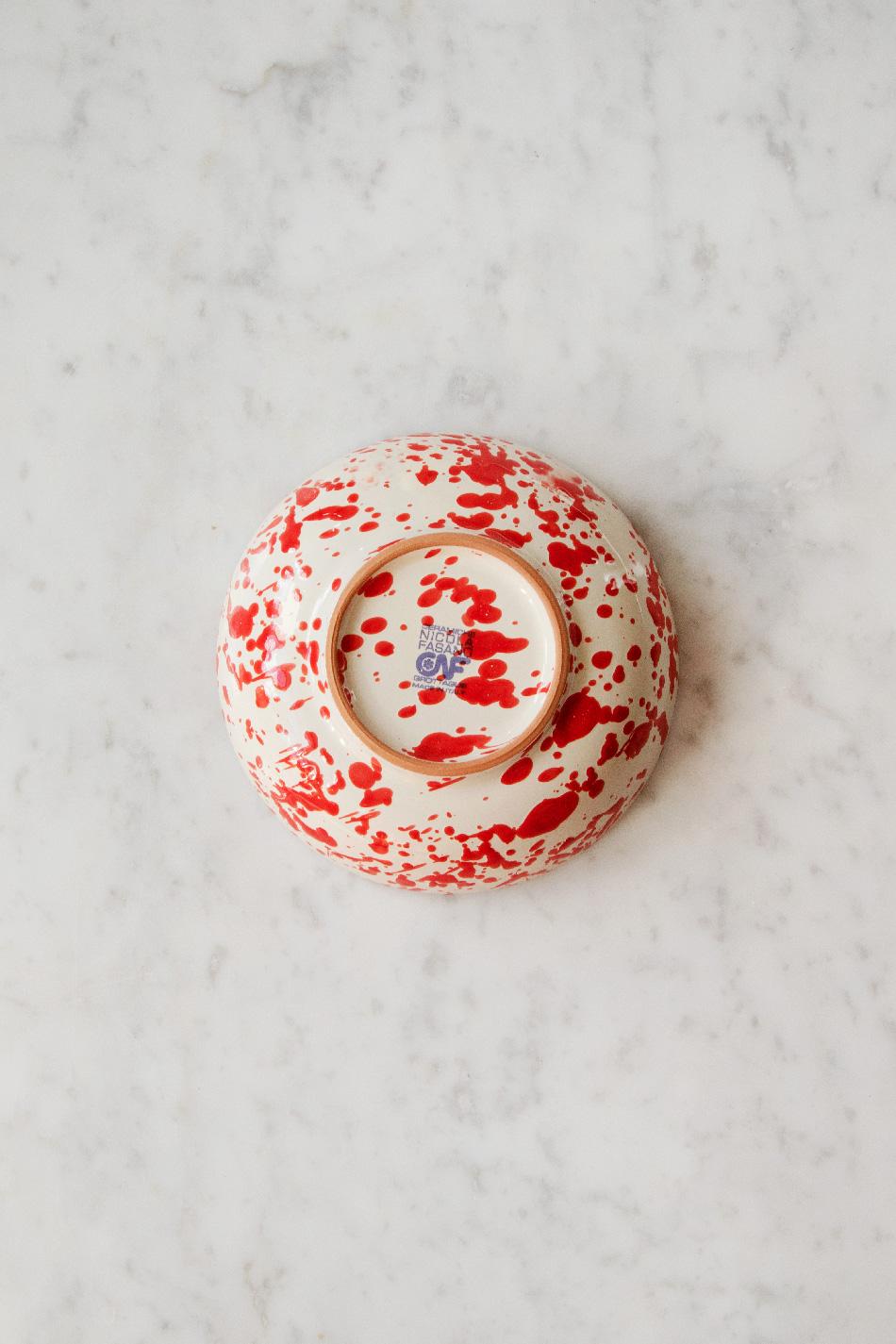 Frukostskål Spruzzi Red