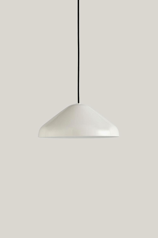 Pao Pendant Steel Cream White M Ø35