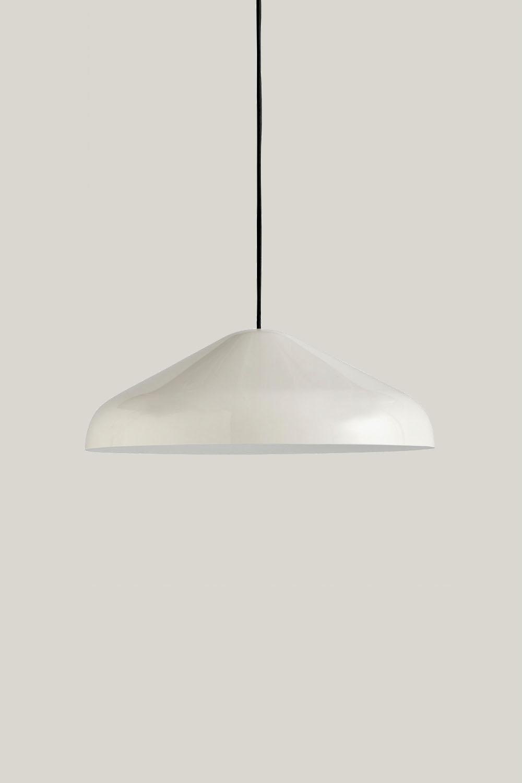 Pao Pendant Steel Cream White L Ø47