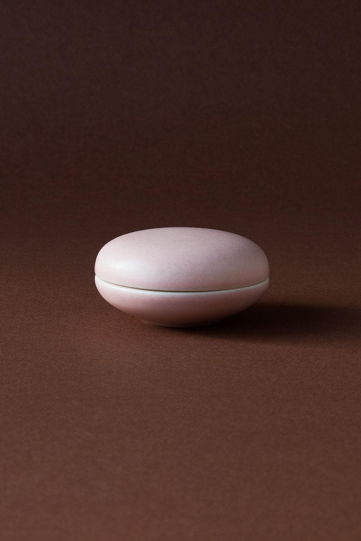 Keramikask Ljusrosarosa