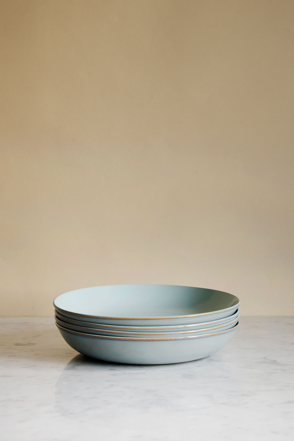 Pasta Plate Light Blue/Smokey Blue
