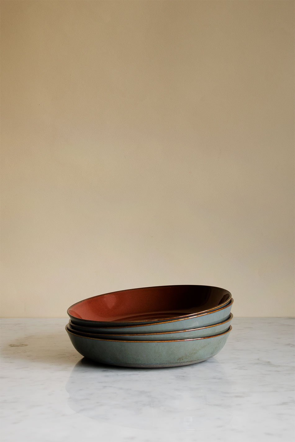 Soup Plate Rust/Smokey Blue