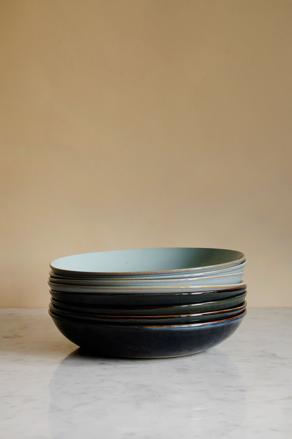 Pasta Plate Blue Grey/Dark Blue