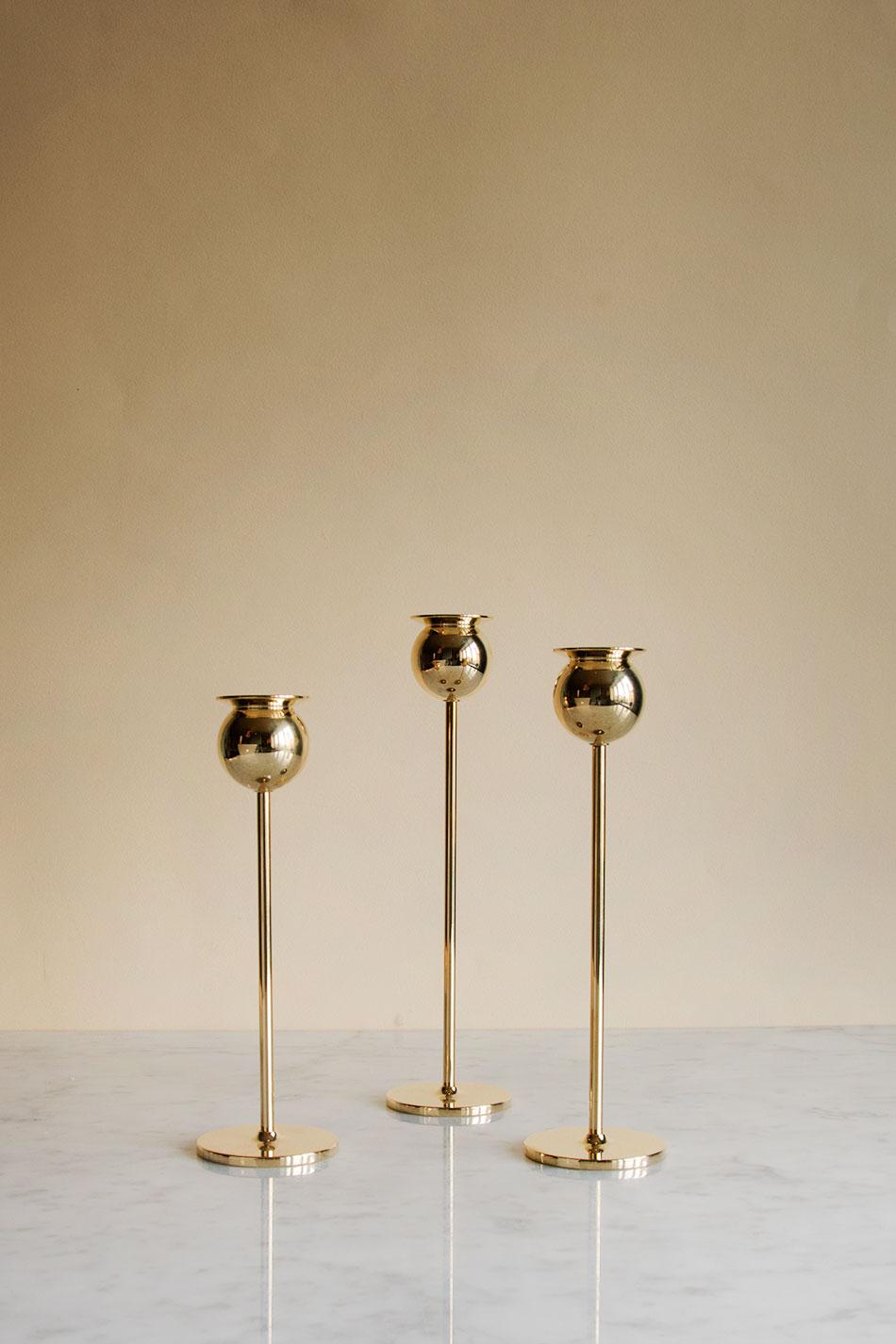 Tulip Candlestick Set of 3