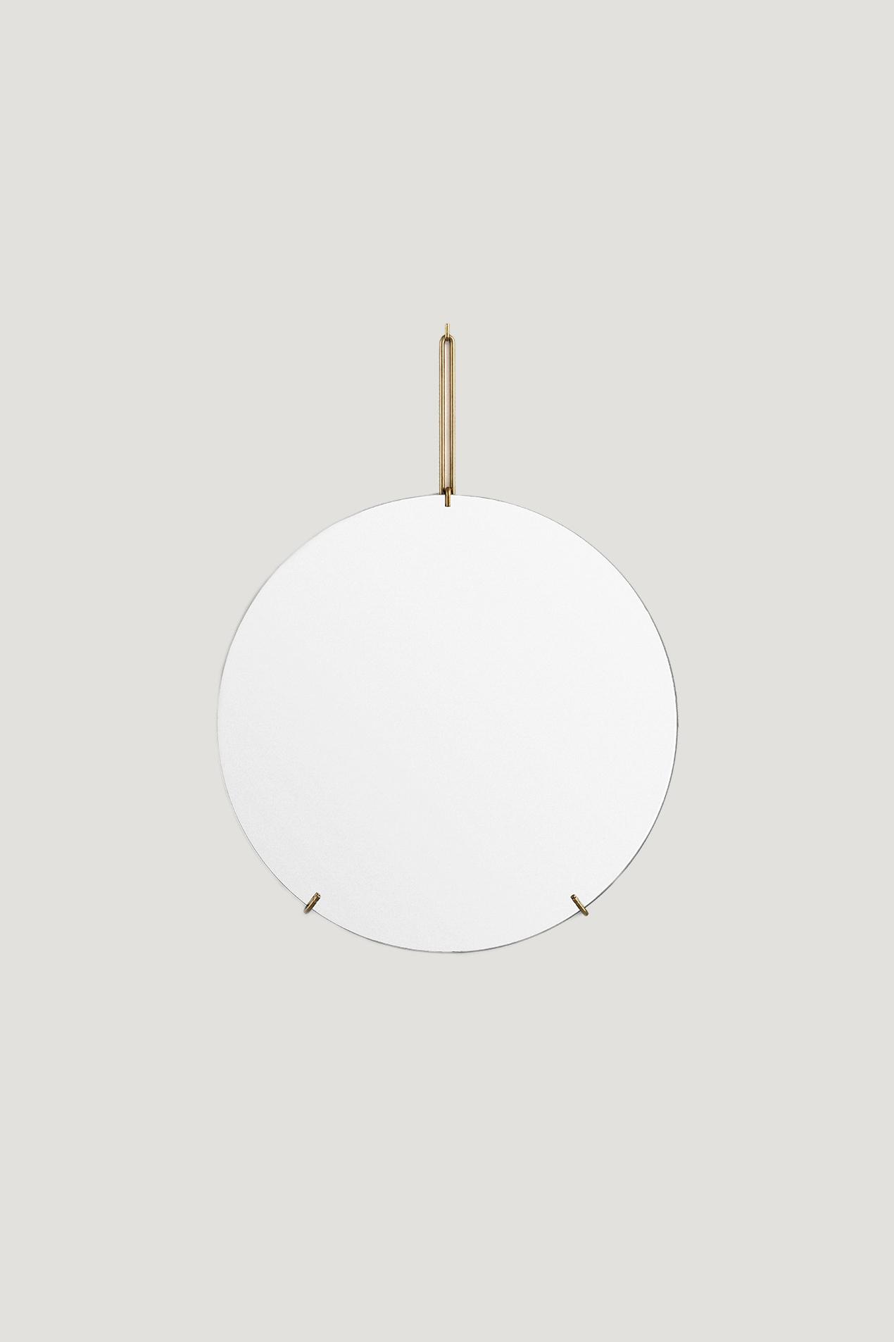 Spegel Ø50cm Mässing