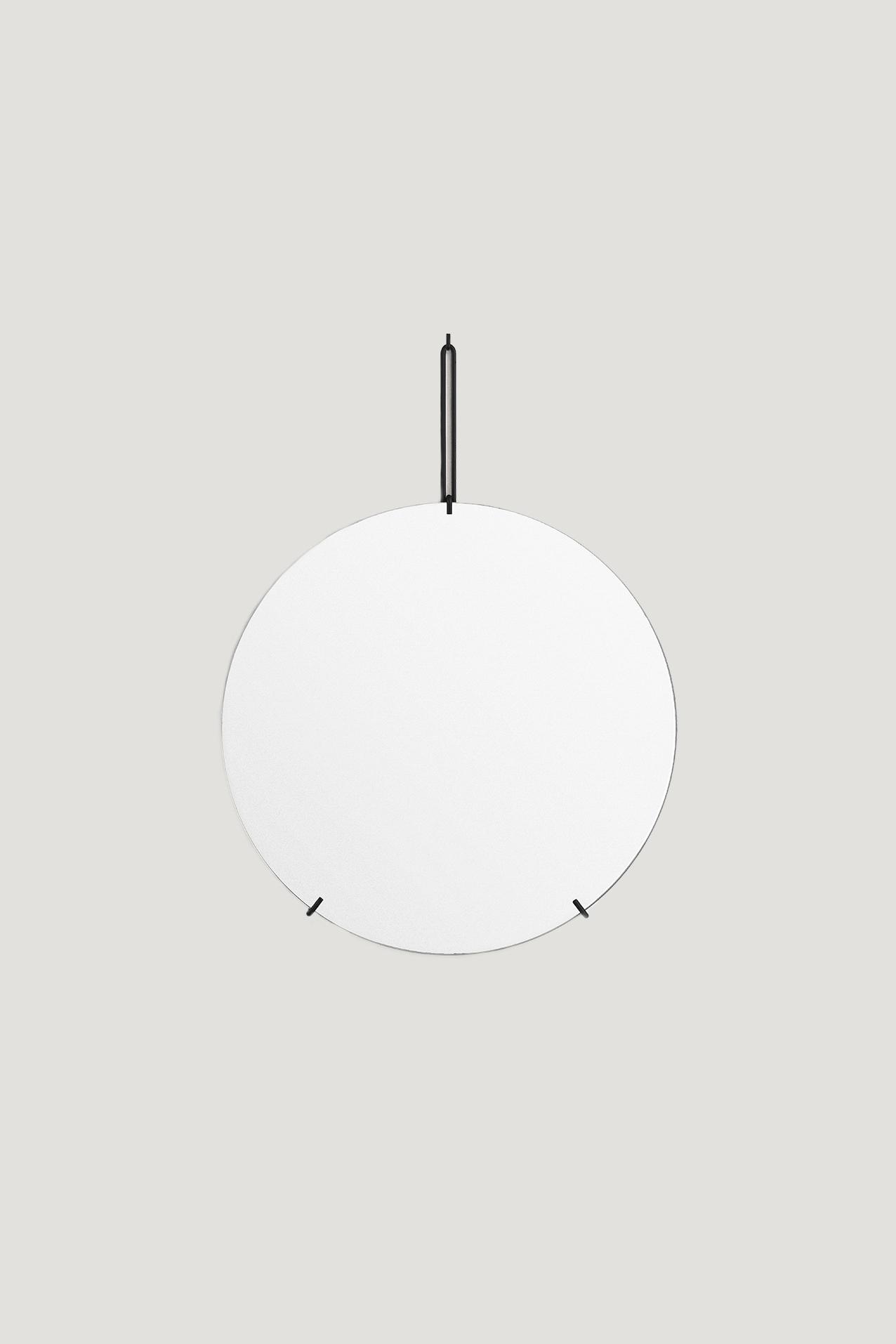 Spegel Ø50cm Svart