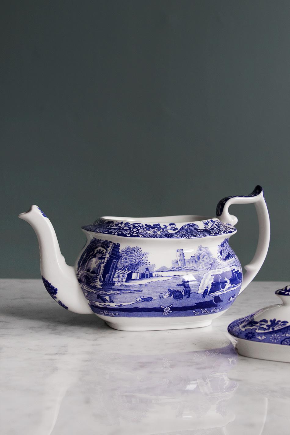 Blue Italian Teapot