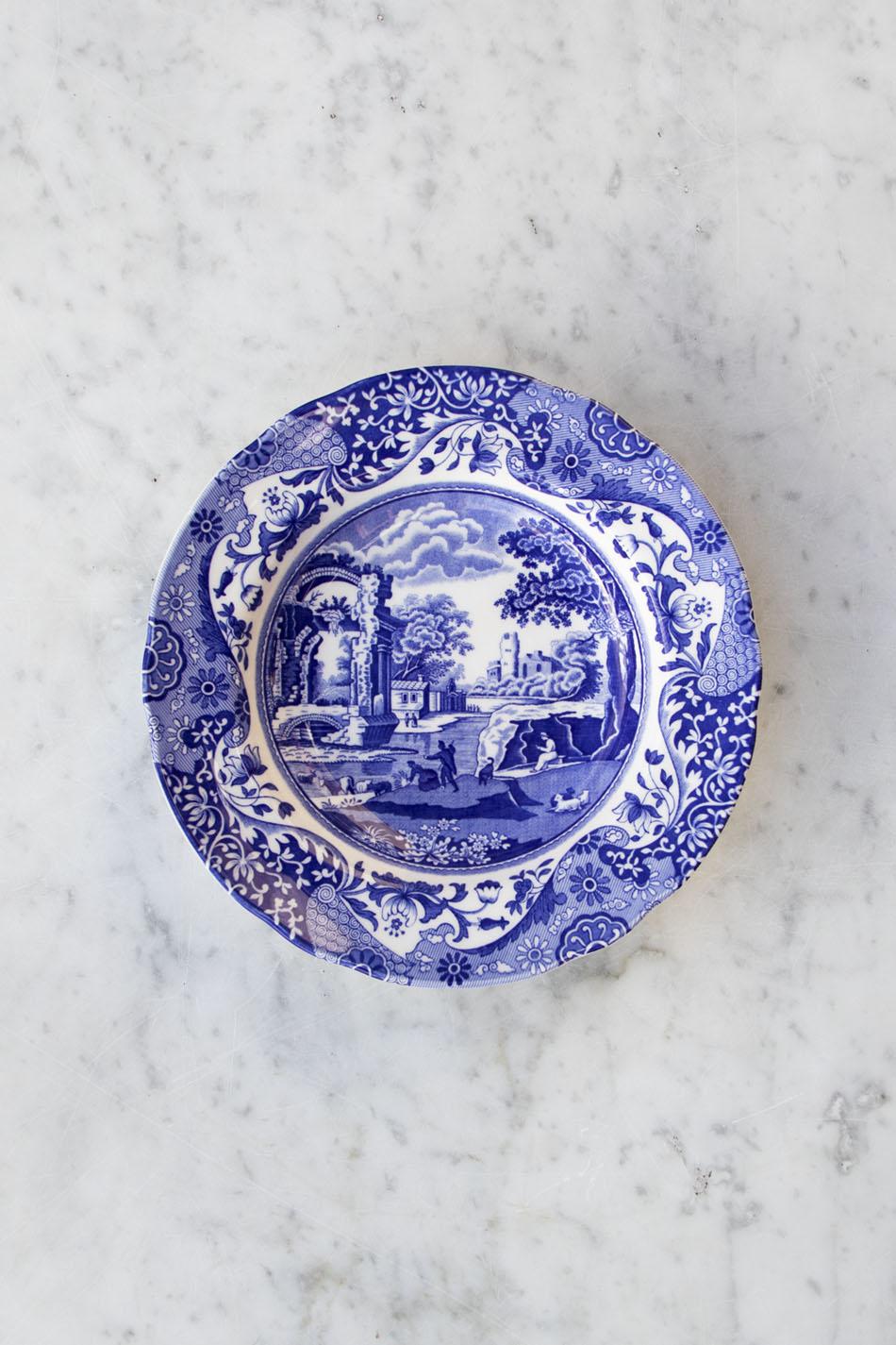 Blue Italian Djup Tallrik