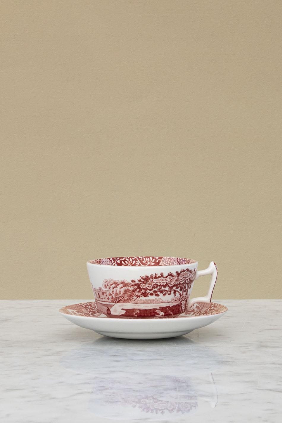Cranberry Italian Cup & Saucer