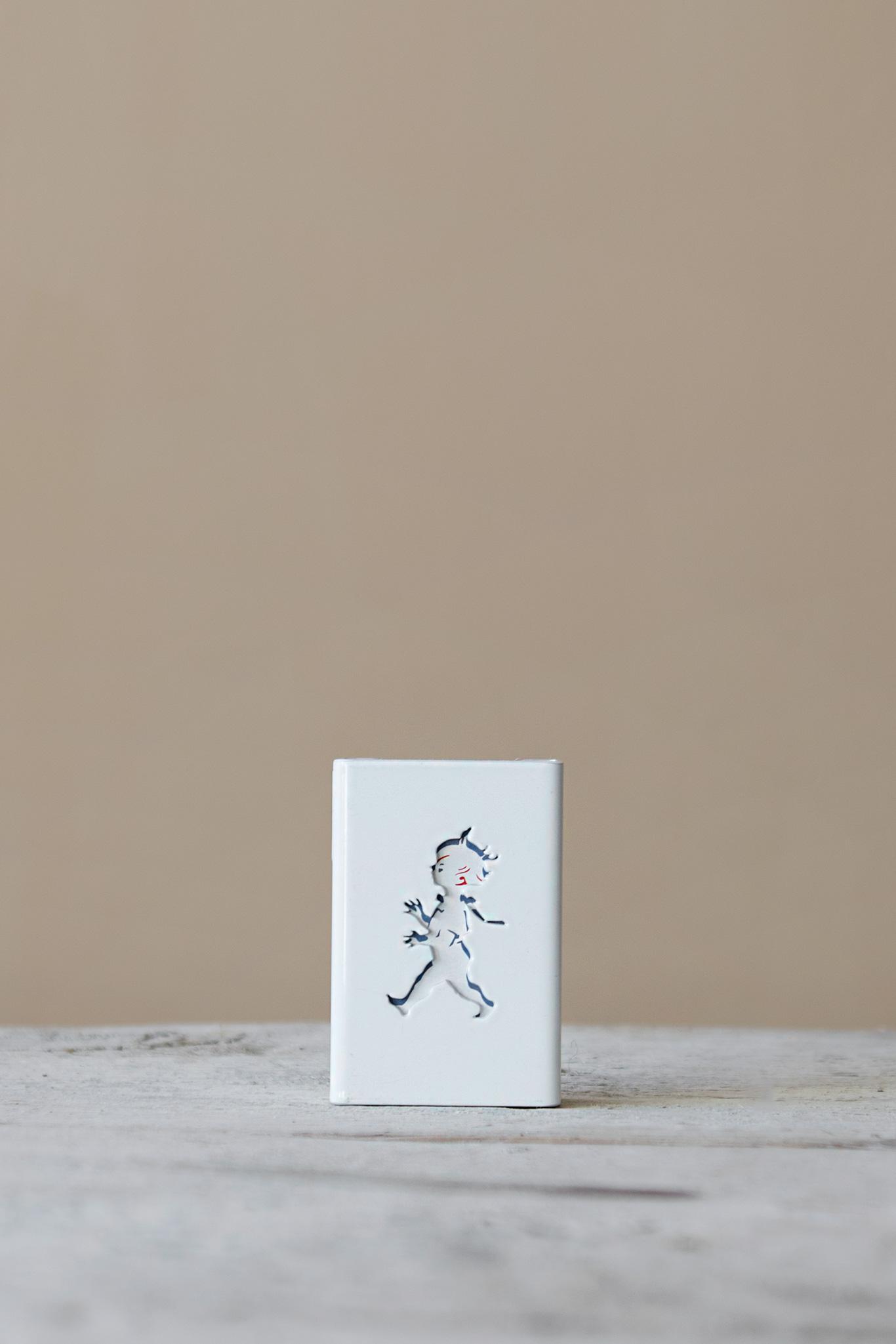 Tändsticksfodral Hommage Vit Mini