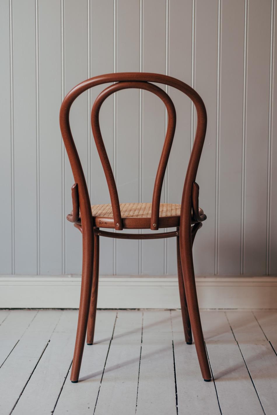 Stol TON No.18 Nougat/Flätad Sits