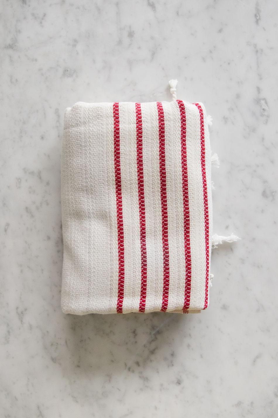 Turkish Peshtemal Stripe Red