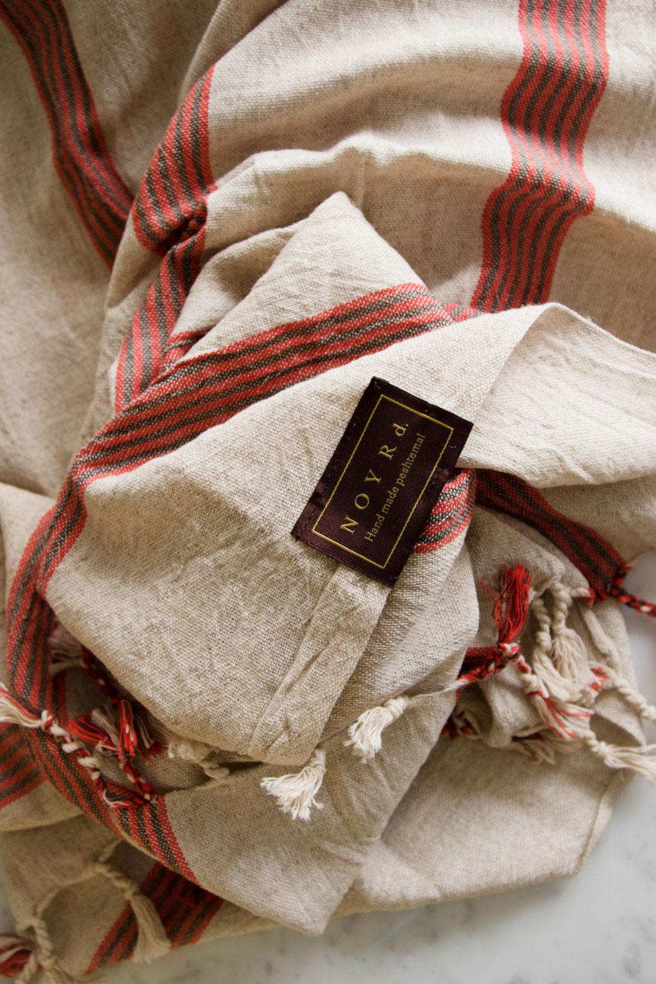 Linen Hamam Towel Red