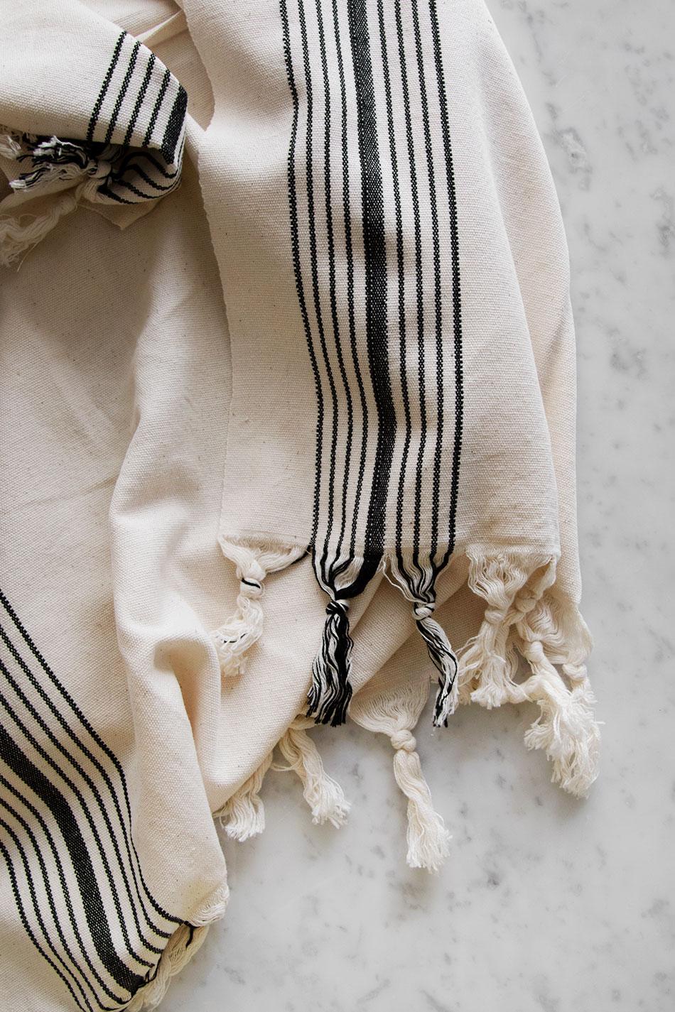 Turkish Hamam Stripe Blk