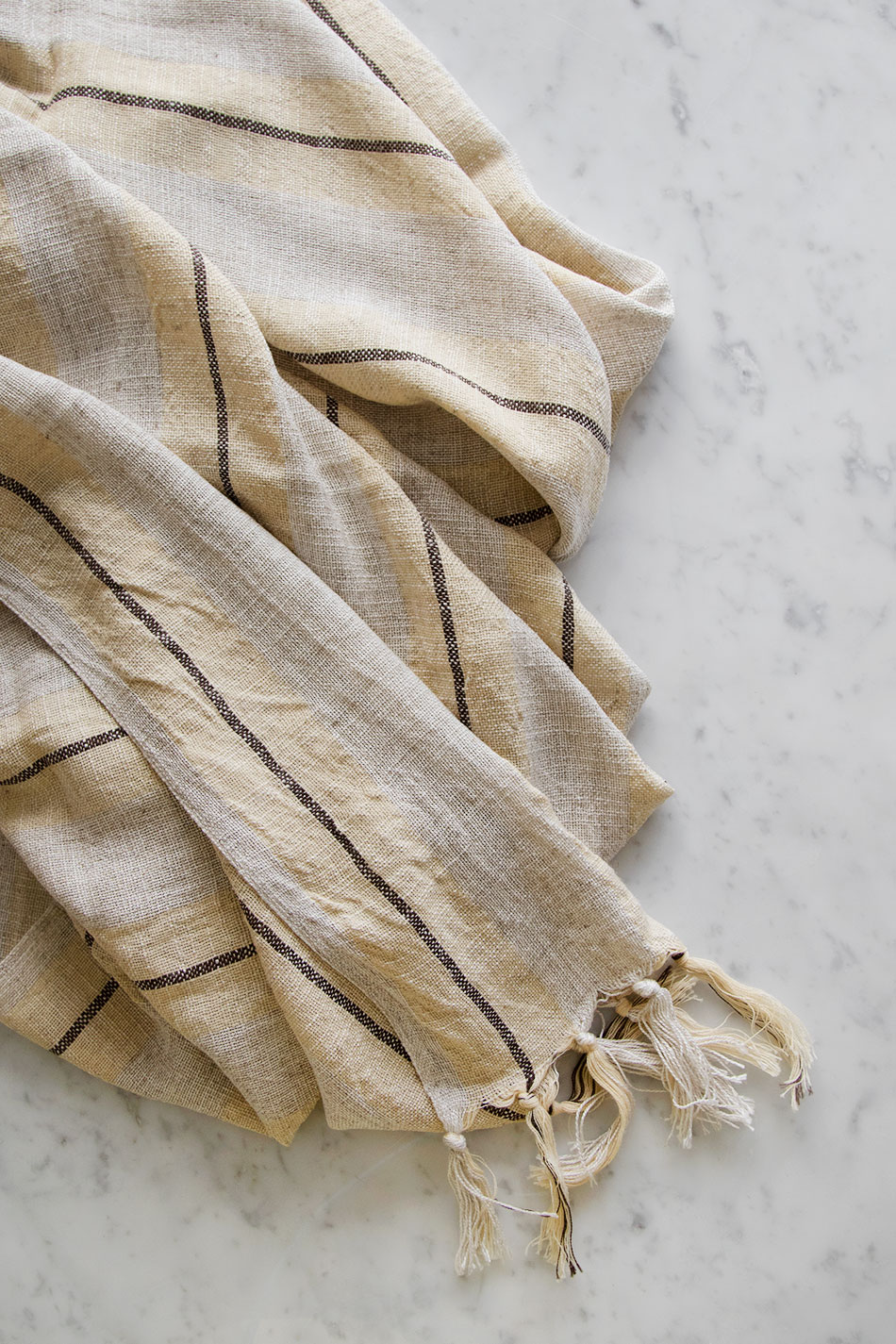 Linen Hamam Towel Yellow