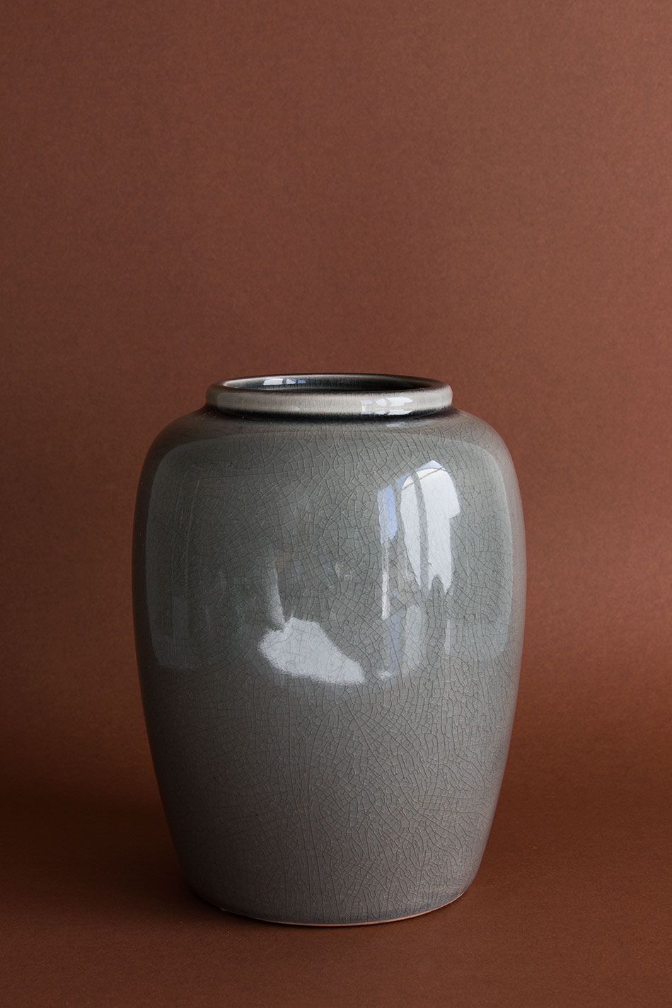 Urna Crackle Grey Small